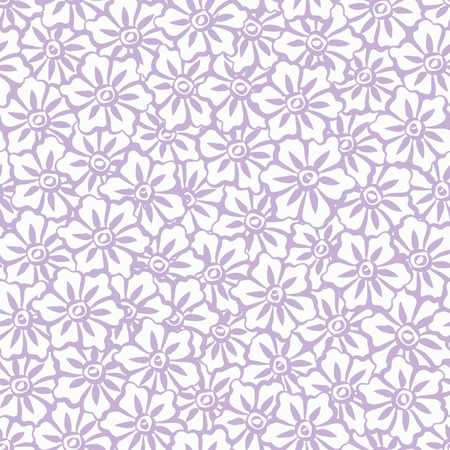 Seamless Hand Painted Sakura Flowers Background Pattern