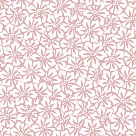 Seamless Hand Painted Sakura Flowers Background Pattern Vector