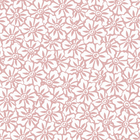 Seamless Hand Painted Sakura Flowers Background Pattern