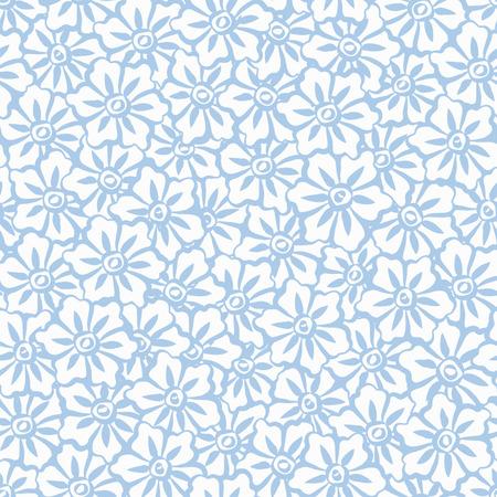 dynasty: Seamless Hand Painted Sakura Flowers Background Pattern