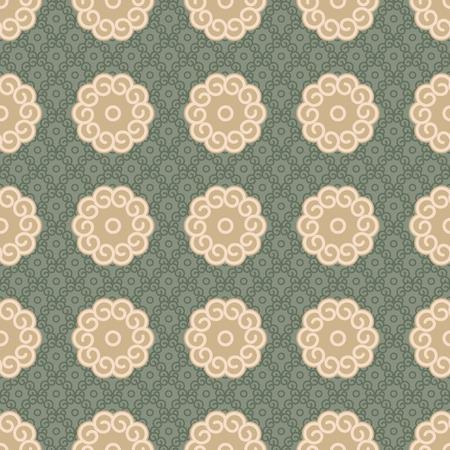 woodblock: Seamless Samurai Chips Background Pattern