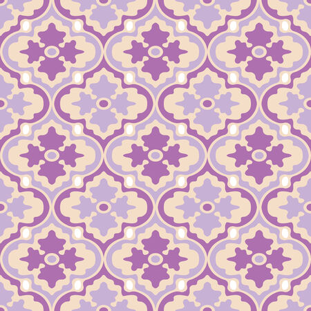 Retro Modern Floral Seamless Background Pattern Vector