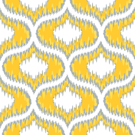 Seamless Ikat Ogee Background Pattern  Vector