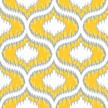 damask seamless: Seamless Ikat Ogee Background Pattern