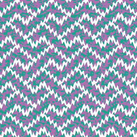 Seamless Ikat Interlocking Geometric Fret Background Pattern Vector