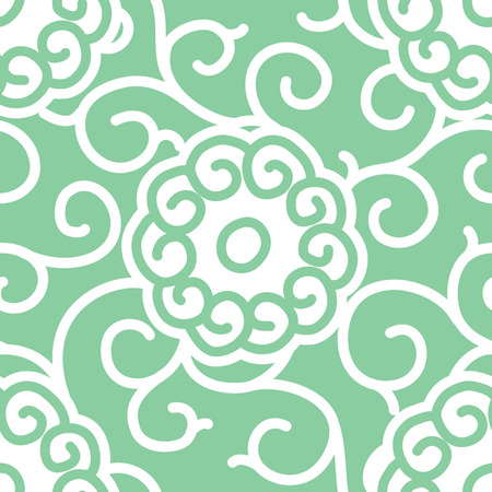dynasty: Traditional Japanese Fabric Seamless Background Pattern