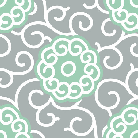 Traditional Japanese Fabric Seamless Background Pattern  Vector