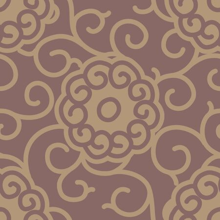 Traditional Japanese Fabric Seamless Background Pattern Ilustração