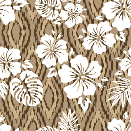 Aloha Shirt Seamless Background Pattern