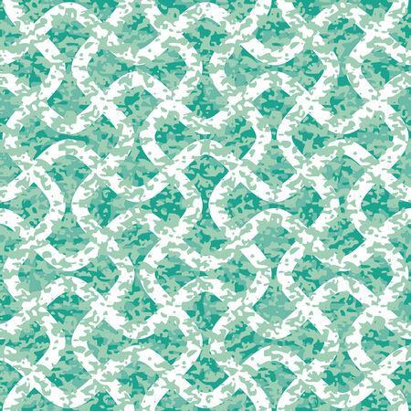 Distressed Interlocking Wave Lines Seamless Background Pattern