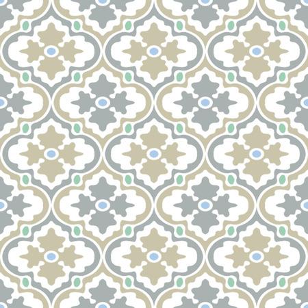Retro Modern Floral Seamless Background Pattern Banco de Imagens - 26306789