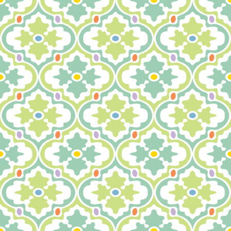 Retro Modern Floral Seamless Background Pattern