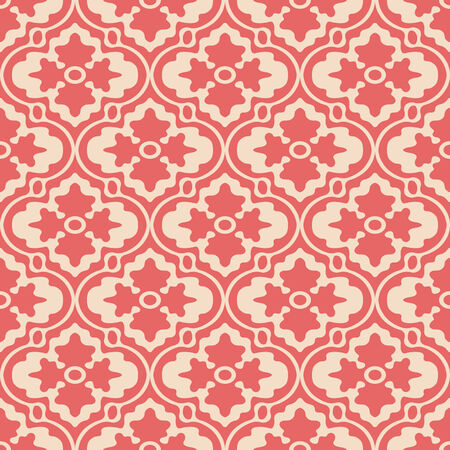 Retro Modern Floral Seamless Background Pattern Banco de Imagens - 26306808