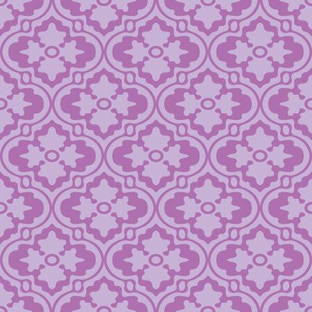 Retro Modern Floral Seamless Background Pattern