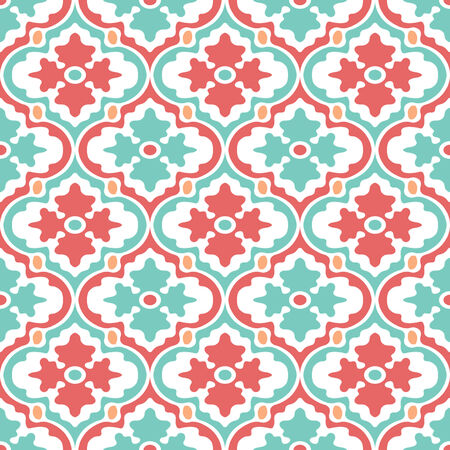 Retro Modern Floral Seamless Background Pattern Banco de Imagens - 26306812