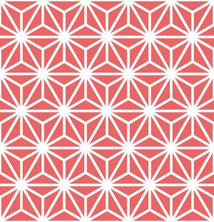 Hexagon Starburst Lines Geometric Seamless Background Ilustração