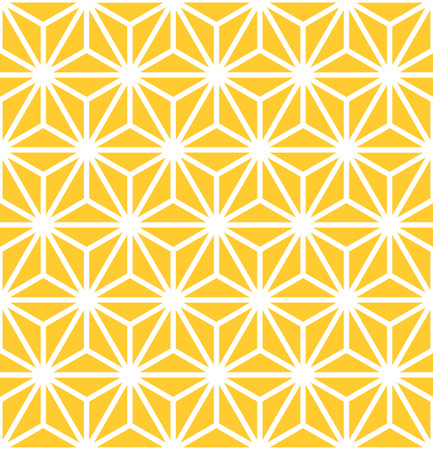 Hexagon Starburst Lines Geometric Seamless Background Ilustração