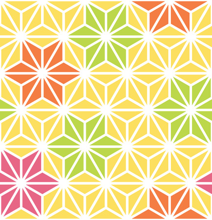 Hexagon Starburst Lines Geometric Seamless Background Banco de Imagens - 26306843
