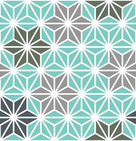 Hexagon Starburst Lines Geometric Seamless Background Banco de Imagens - 26306845