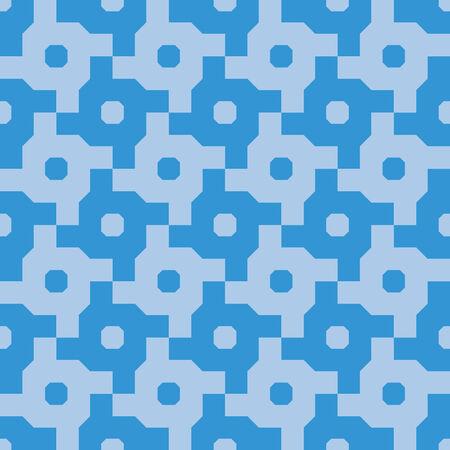 Interlocking Cross Wheel Seamless Background Pattern  Ilustração