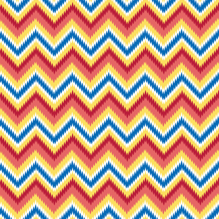 Seamless Retro Modern Chevron Ikat Background Pattern  Vector