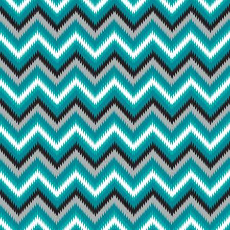 Seamless Retro Modern Chevron Ikat Background Pattern
