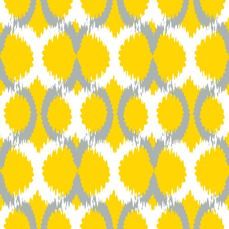 Seamless Ikat Ogee Background Pattern
