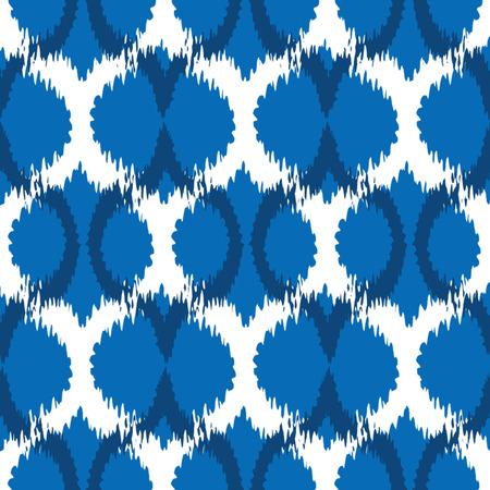Seamless Ikat Ogee Background Pattern Banco de Imagens - 26306869
