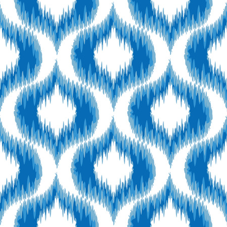 ikat: Seamless Ikat Damask Background Pattern  Illustration