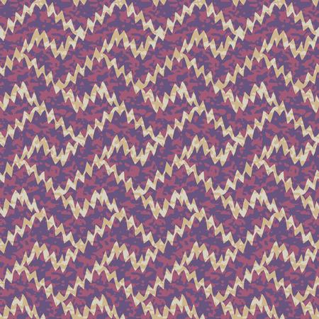 Seamless Ikat Interlocking Geometric Fret Background Pattern