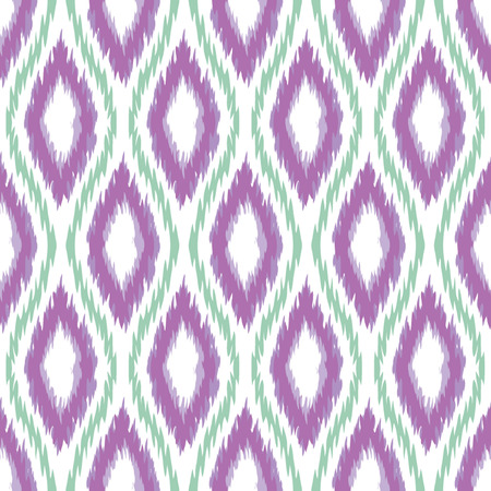 Seamless Oval and Double-S Ogee Ikat Background Pattern Banco de Imagens - 26306951