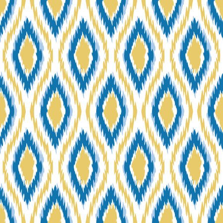 Seamless Oval and Double-S Ogee Ikat Background Pattern Banco de Imagens - 26306954
