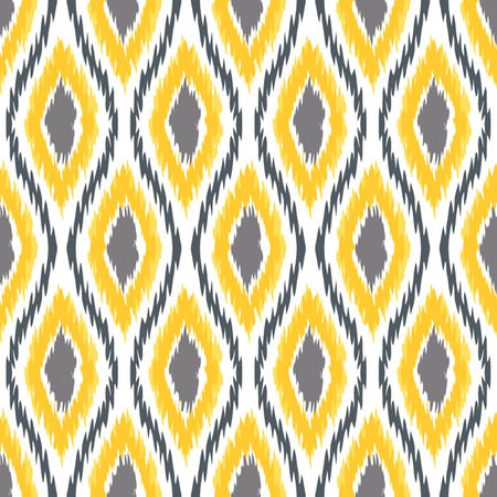 Seamless Oval and Double-S Ogee Ikat Background Pattern Banco de Imagens - 26306955