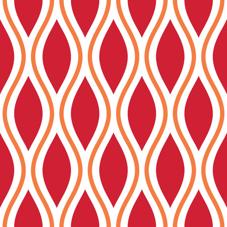 Seamless Oval and Double-S Ogee Background Pattern Banco de Imagens - 26306956