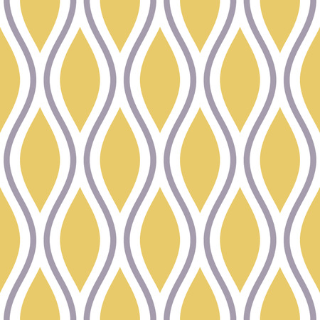 Seamless Oval and Double-S Ogee Background Pattern  Vector