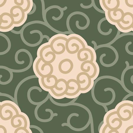 Traditional Japanese Fabric Seamless Background Pattern