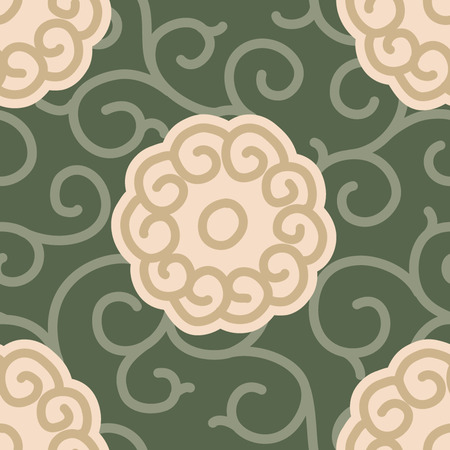 Traditional Japanese Fabric Seamless Background Pattern Banco de Imagens - 26306965