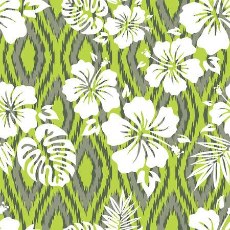 monstera leaf: Tropical Shirt Seamless Background Pattern Illustration