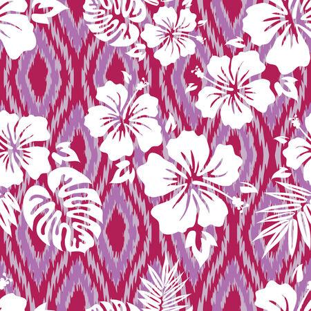 Tropical Shirt Seamless Background Pattern Ilustração