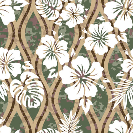 Tropical Shirt Seamless Background Pattern Vector