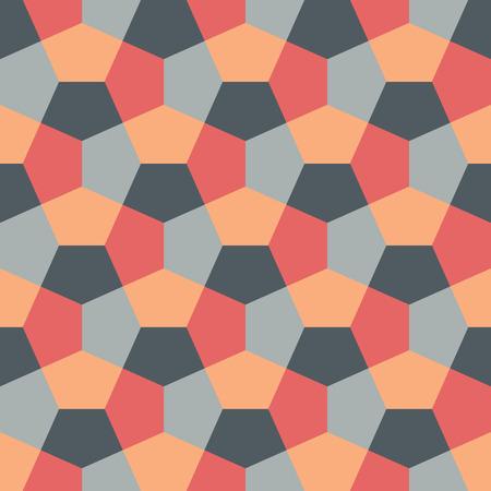 Hexagon Paper Fold Seamless Background Pattern Ilustração