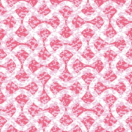 Distressed Interlocking Wave Lines Seamless Background Pattern
