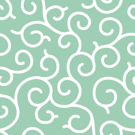 Swirly Vine Karakusa Seamless Background Pattern