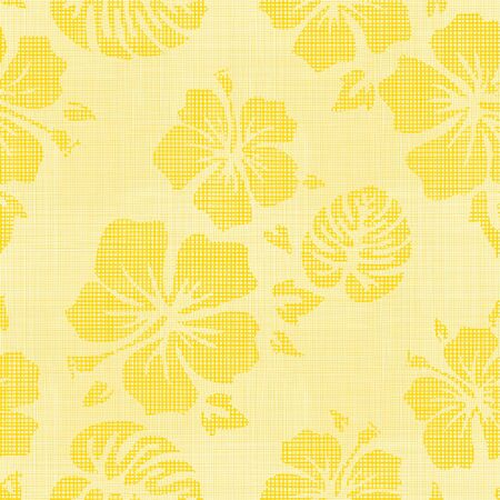 Seamless Faux Linen Hawaiian Background Pattern Banco de Imagens - 44324649