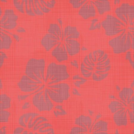 Seamless Faux Linen Hawaiian Background Pattern Ilustração