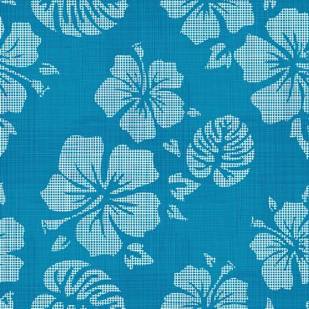 Seamless Faux Linen Hawaiian Background Pattern Banco de Imagens - 44324653
