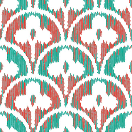 Three Leaf Clover Scallop Pattern Seamless Background Tile