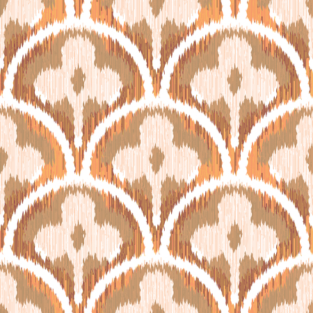 Three Leaf Clover Scallop Pattern Seamless Background Tile Banco de Imagens - 50154172