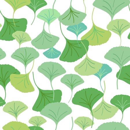 All over seamless repeat pattern with cascading ginkgo biloba leaves of different shades of green. Soothing, natural, tranquil. Versatile use for spa, wellness, beauty products, packaging and more.