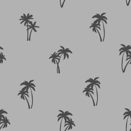 Patrón de repetición sin costuras de media gota con palmeras de carbón ditsy
